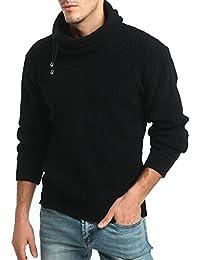 HY-Sweater Jersey de Manga Larga Hombre de Cuello Alto de Lana Gruesa  Grueso suéter 0ffd53f2081d