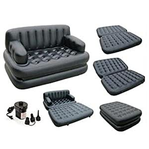 5 in 1 sofa cum bed leather look air lounge. Black Bedroom Furniture Sets. Home Design Ideas
