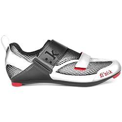 Fizik K5 Uomo - Zapatillas de ciclismo para hombre, hombre, K5M8020-2014-42, gris/rojo, talla 42