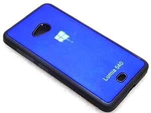 Techno TrendZ™ New Imported Premium Quality Designer Logo Series Printed Soft + Semi Hard Silicone Back Case COver Shell Guard for Microsoft Lumia 540