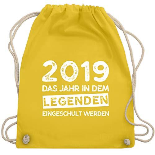 lanfang - 2019 Das Jahr in dem Legenden eingeschult werden - Unisize - Gelb - WM110 - Turnbeutel & Gym Bag ()