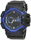 SKMEI Analog-Digital Black Dial Men's Watch-AD1117 (BLK-BLU)