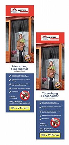 2x CBK-MS Tür Fliegenvorhang 95 x 215 cm Fliegengitter Insektenschutz (Schiebetüren Terrasse Vorhänge)