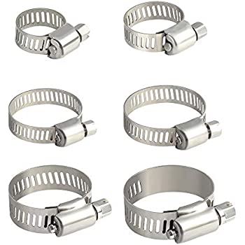 Water Pipe 2x 20-32mm Worm-Drive Hose Clips Stainless Steel,Jubilee Type,Fuel
