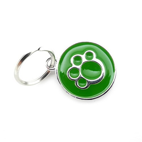 selmai Kleine Hunde Name Tags Edelstahl Knochen Paw non-engraved Puppy Pet ID-Tags Halsband mit Namen Cool Unique Fancy