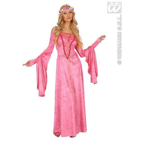(Widmann 7213F, Hofdame Renaissance rosa Fasching exklusive Kostüm in Größe M = 38/40)