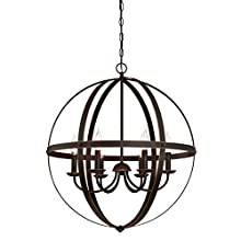 Westinghouse Lighting 63282 Stella Mira Six-Light Indoor Chandelier, Oil Rubbed Bronze Finish with Highlights
