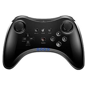 Jevogh Wii U Controller Wireless Wii U Pro Fernbedienung Controller Gamepad Joypad für Nintendo Wii U mit USB Kabel – Schwarz (Dritteranbieter Produkt) GR59