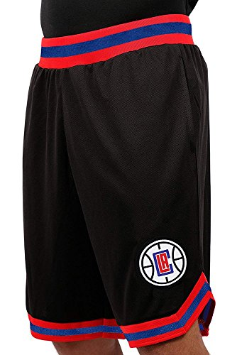 NBA Herren Mesh Basketball Shorts Woven Active Basic, Team Logo schwarz, Herren, GSM3547F, schwarz, Small -