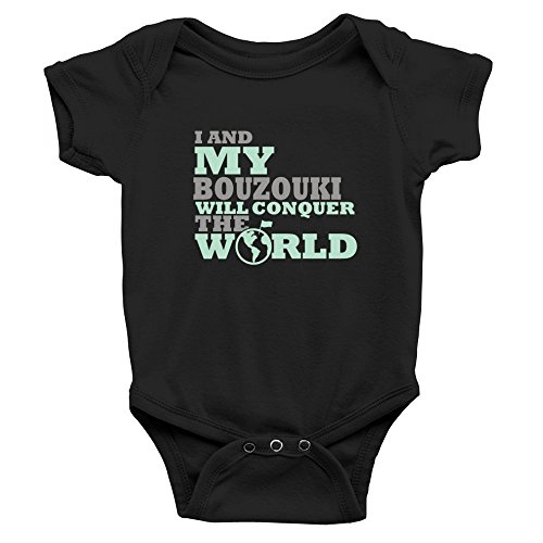 Teeburon I and my Bouzouki will conquer the world Baby Strampelanzug