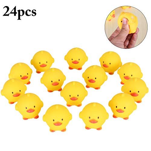 Joyibay 24 STÜCKE Baby Bade Spielzeug Kreative Küken Quietschende Spielzeug Stressabbau Spielzeug für Kinder -