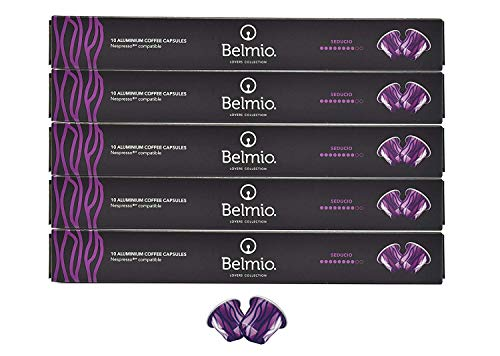 Belmio Seducio Lovers Collection 50er - Set Nespresso Kompatible Aluminium Kaffee Kapseln (5 x 10...