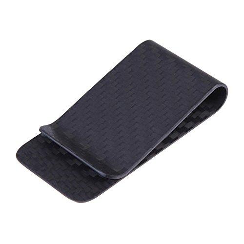 Echt Carbon Faser Geld Clip Business Kreditkarte Cash Brieftasche poliert und matt für Optionen qbbrt, Matt