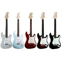 Guitare Electrique Strato 5 Coloris Au Choix ~ Avec Vibrato Et Câble (noire)