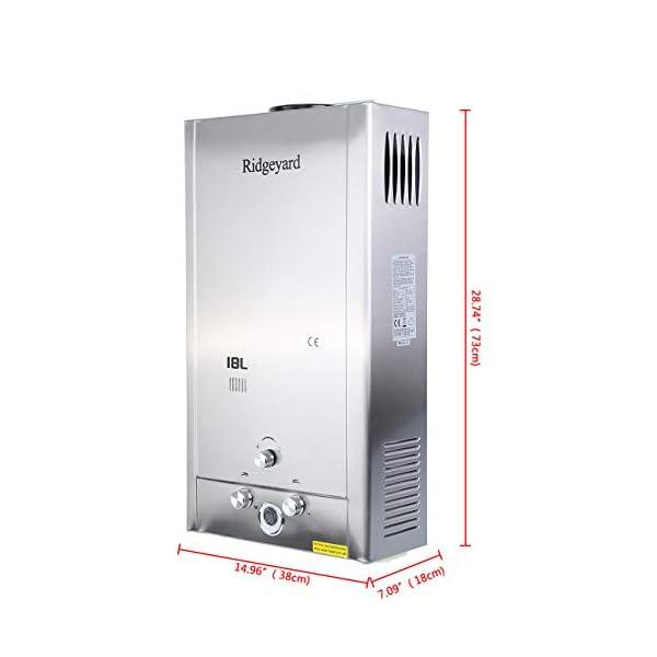 iglobalbuy 18L Gas GLP calentador instantáneo caliente calentador de agua calentador de agua con alcachofa de ducha