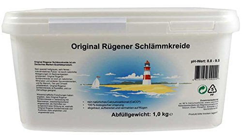 Original Rügener Schlämmkreide / 1,0 Kg Calciumcarbonat / reines und allergenfreies Naturprodukt