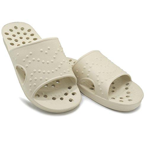 Dusch Badeschuhe KENROLL Sommerurlaub Schuhe Zehentrenner Strandschuhe Flip Flops f眉r Herren f眉r Damen Khaki