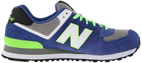 New Balance Ml574 D, Baskets mode homme Bleu (Cbg Blue/Lime)