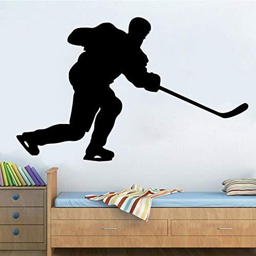 Preisvergleich Produktbild YSFU Wandsticker Eishockey Sport Wandtattoos Wanddekoration Aufkleber Wandbild Werbe Wasserdicht Für Kinderzimmer