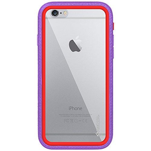 Amzer Crusta edge2edge Rugged Shell Case Cover mit Tempered Glas und Holster für iPhone 6Plus silber/gold _ P Gold/Purple/Red/Silver