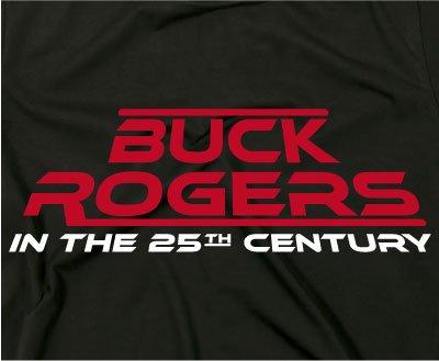 Buck Rogers culte Rétro T-shirt, série TV bande dessinée 25th Century Noir
