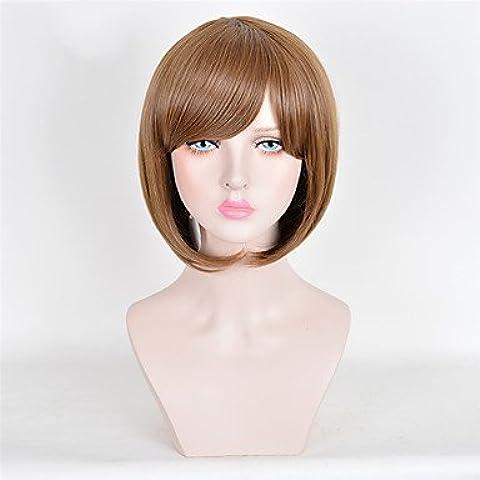 Meydlee Parrucche DFGM donna moda qualità Top di breve parrucca marrone sintetico parrucche , brown