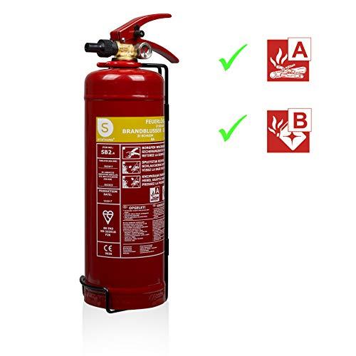 Smartwares 10.014.97 Extintor-2 litros de Espuma Resistencia al Fuego AB SB2, Rojo