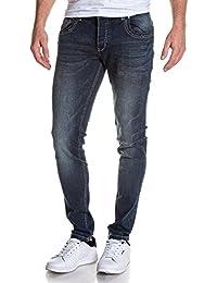 BLZ jeans - Jean homme slim bleu délavé tendance