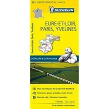 Carte Eure-et-Loir, Paris, Yvelines Michelin