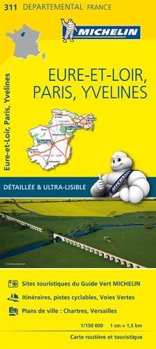CLAVILLE ET ENVIRONS - Carte Eure-et-Loir, Paris, Yvelines Michelin