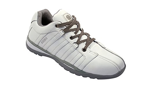 BARGAINS-GALORE Mens Safety Trainers Shoes Boots Work Steel Toe Cap Hiker Ankle White