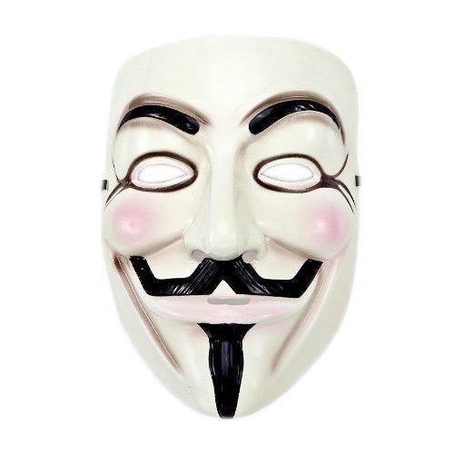 Soccik V Maske Plastikmaske mit Eyeliner Nostril Anonymous Die Maske Halloween Maske Fancy Adult Kostüm Zubehör Halloween Cosplay Geschenk