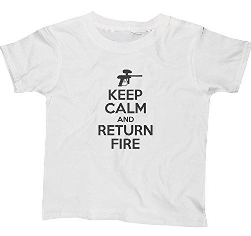Hippowarehouse Keep Calm and Return fire Kids Children's Short Sleeve t-Shirt