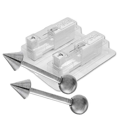 1 Paar STUDEX Medizinische Ohrstecker Barbell Kegel Chirurgenstahl Kegel-system