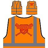 Softbol Chicas 1 Chaqueta de seguridad naranja personalizado de alta visibilidad s915vo
