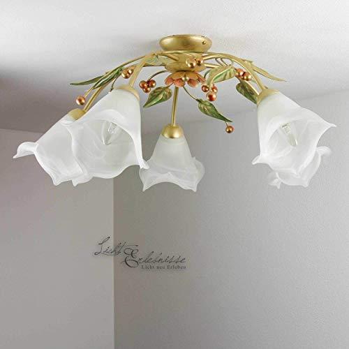 Deckenlampe Deckenleuchte Deckenlicht Jugendstil Art Gold Landhaus Doro