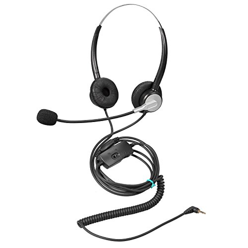 Ymate 2,5mm Telefon Headset Dual...