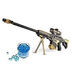 Idea Regalo - JINGYD Pistola Giocattolo Pistola ad Acqua, Combattimento Militare Barrett Fucile da cecchino, Bambini all'aperto CS Giocattolo Bomba Acqua Fucile da cecchino + 20000 pallottola di Cristallo