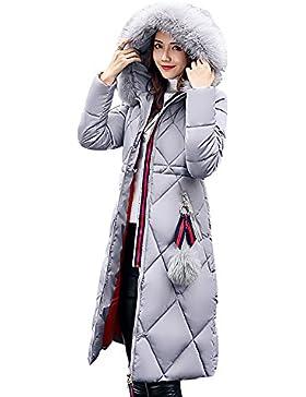 BAINASIQI Mujer Abrigo Caliente con Capucha Chaqueta Acolchada Larga Down Parka de Algodón para el invierno