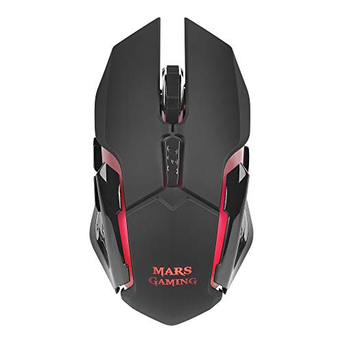 Mars Gaming MMW, ratón para PC inalámbrico 3200DPI, RGB Flow, wireless, USB