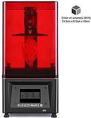 ELEGOO Imprimante 3D Mars Pro MSLA 3D Photocuring UV Imprimante LCD avec Source de lumière LED Matrix UV, Char