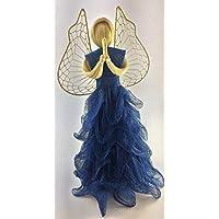 Blauer Engel aus Naturfasern H ~ 30 cm