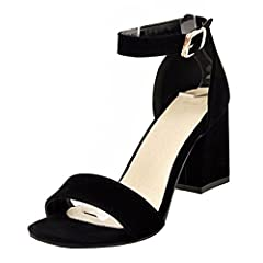 452013a159aa Atyche Women s High Block Heel Open Toe Ankle Strap Court Sho .
