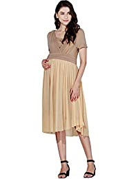 Sweet Mommy Flair Tulle Maternity and Nursing Dress