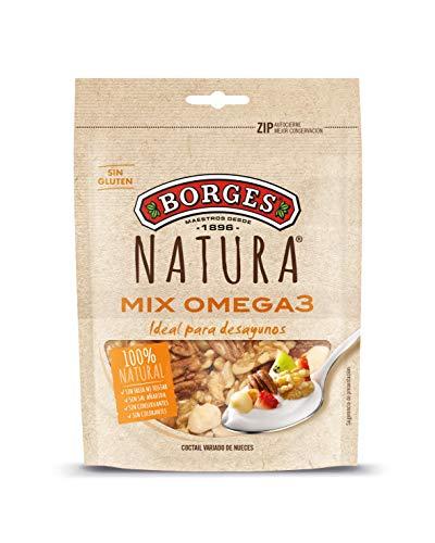 Borges Natura - cocktail variado de nueces crudas (pecana, de california y de macadamia) bolsa 100 g