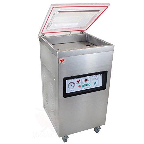 """Beeketal """"T400S"""" Profi Kammer Vakuumierer mit Impuls Schweißleiste, elektronisch gesteuertes Vakuumiergerät mit 20m³/h Absaugvolumen und integriertem Impuls Folienschweißgerät, Standgerät mit Rädern"""
