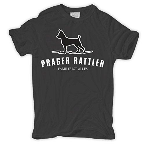 Männer und Herren T-Shirt Prager Rattler - Familie ist alles Größe S - 8XL Aschgrau