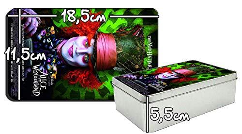 Alicia En EL Pais De Las Maravillas Alice In Wonderland Johnny Depp Mad Hatter Tim Burton Metalldose aus Zinn Metal Tin Box