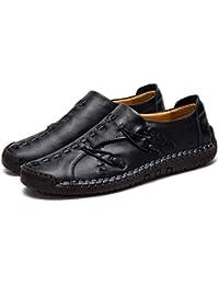 259c84f54cb Zapatillas Hombre Cuero Zapatos Caballero Casuales Trabajo Ligeras  Mocasines Ponerse Centavo Conducción Barco Vestido Formal