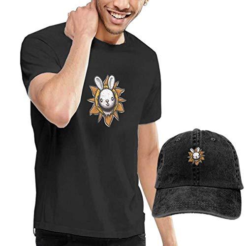 shirt Killer Bunny Men's Short Sleeve T Shirt & Washed Adjustable Baseball Cap Hat ()